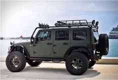 Jeep Show Mods The JK Jeep Wrangler once again won the Hottest SUV of SEMA at this year's Specialty Equipment Manufacturers Association Show in Las Vegas. Watch the hottest Wrangler show vehicl. Jeep Wrangler Rubicon, Jeep Wrangler Unlimited, Green Jeep Wrangler, Jeep Wrangler Custom, Jeep Wrangler Off Road, Red Jeep, Black Jeep, Jeep Jk, Jeep Truck