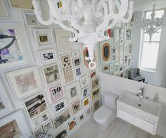 Baño decoracion predomina el blanco