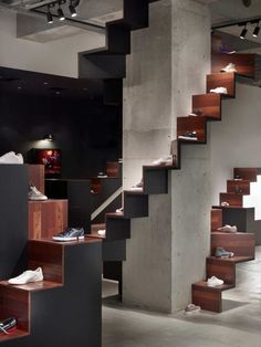 """PUMA HOUSE,Aoyama, Tokyo,Japan, """"Coming down the stairs...."""",designed by Nendo, pinned by Ton van der Veer"""