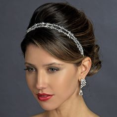 Double Wedding Headband with Swarovski Crystals - simply elegant! affordableelegancebridal.com