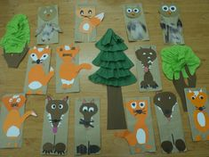 Autumn Crafts, Fall Crafts For Kids, Wolf, Animal Habitats, Fairy Tales, Carnavals, Crafts, Crafting, Autumn Crafts Kids