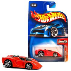 Hot Wheels Year 2004 First Editions Series 1:64 Scale Die Cast Car Set #9 - Red Color Sports Car TOONED ENZO FERRARI 83556