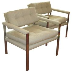 Pair of Lounge Chairs by Milo Baughman ca1970's