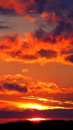 Sun Sky Sunset Clouds Background