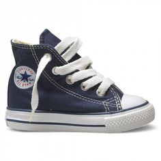 Converse Hi Top Navy Blue White Baby Infant Toddler Boys Girls Shoes All Sizes Converse Star, Baby Converse, Converse Chuck Taylor All Star, Chuck Taylor Sneakers, Converse Shoes, Kid Shoes, Girls Shoes, Baby Shoes, Baskets