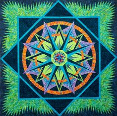Mariner's Compass ~ Quiltworx.com, made by CI, Janet Spinks