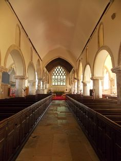 Built in 1095 this is the church of St Nicholas in Romney Marsh, Kent, England by B Lowe
