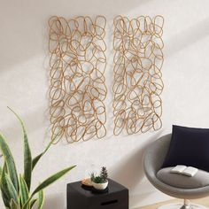 New Contemporary Iron Wall Decor (Set of by Brayden Studio Home Decor Furniture. Fashion is a popular style Silver Wall Decor, Iron Wall Decor, Silver Walls, Unique Wall Decor, Gold Walls, Metal Walls, Diy Wall Decor, Metal Wall Art, Cheap Wall Decor