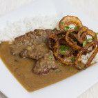 Viedenská roštenka • recept • bonvivani.sk Pork, Beef, Chicken, Tomato Paste, Stir Fry, Dishes, French Cuisine, Coq Au Vin