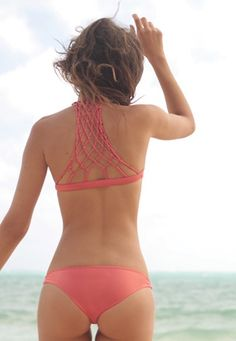 I love the back of the top! The bottoms.... A little little for my taste.