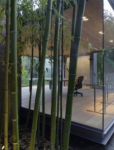Detail of a Tea House at a family home in Silicon Valley, California, USA by Swatt Miers Architects