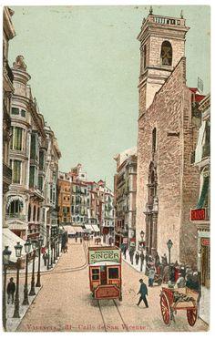 Calle de San Vicente, Valencia. 1904