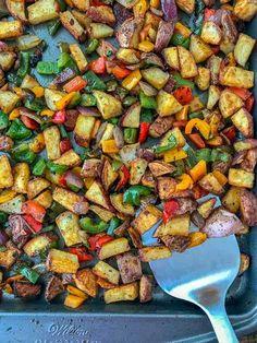 Breakfast Potatoes Easy, Breakfast Bites, Breakfast Recipes, Dinner Recipes, Clean Eating, Healthy Eating, Nutritious Snacks, How To Make Breakfast, Potato Recipes