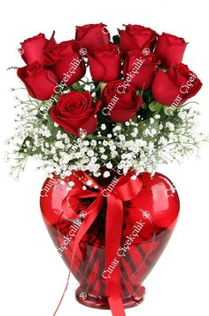 Red roses for dad Beautiful Rose Flowers, All Flowers, Exotic Flowers, Valentine's Day Flower Arrangements, Rosen Arrangements, Flower Arrangement Designs, Flower Box Gift, Flower Boxes, Benfica Wallpaper