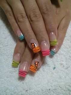 Amazing Tips For The Best Summer Nails – Page 8464802455 – NaiLovely Zebra Stripe Nails, Nail Art Stripes, Spring Nail Art, Spring Nails, Summer Nails, Fancy Nails, Cute Nails, Pretty Nails, Fabulous Nails
