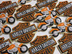 Harley Davidson Motorcycles Decorated Sugar Cookies by MartaIngros