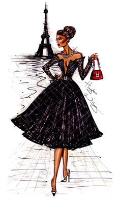 fashion sketches paris | Ooh La La Paris' by Hayden Williams