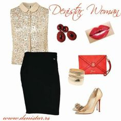 Denistar black skirt - 22/020  Fashionable stately outfit