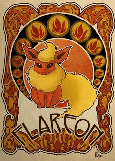 Flareon, one of my most favorite Eeveelutions. c: