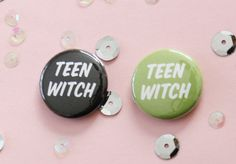Teen Witch Button Choose One by ModernGirlBlitz on Etsy, $2.00