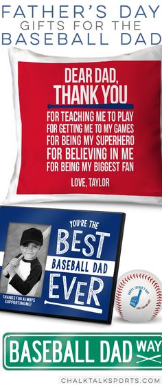 Baseball Dad Father's Day Gift Ideas. #baseball