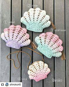 Pattern & Şablon Burada 👇🏻 on Instagr Crochet Seashell Applique, Crochet Flower Patterns, Crochet Bunny, Cute Crochet, Crochet Motif, Crochet For Kids, Crochet Designs, Crochet Yarn, Crochet Flowers