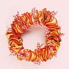 You can use your apple garland as a garland or loop it in a circle to form a wreath.