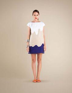 tri-toned dress