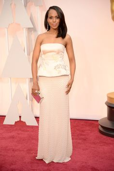 Kerry Washington, in Miu Miu: The 2015 Academy Awards: All the Pictures From the Red Carpet - Gallery - Style.com