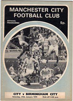 Vintage Football (soccer) Programme - Manchester City v Birmingham City, 1972/73 season #football #soccer #mancity