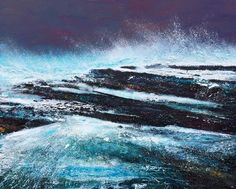 PENDENNIS ROCKS - acrylic and collage on canvas