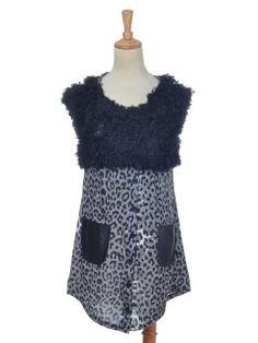 Anna-Kaci S/M Fit Trendy Black Grey Cheetah Leopard « Impulse Clothes