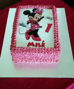 Minnie Mouse Picture Cake