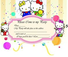 30 Best Hello Kitty Invitations Images On Pinterest Party
