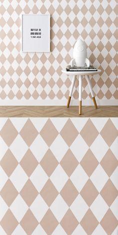 Papel pintado rosa Circus | Circus wallpaper, un papel pintado que convertirá la habitación de los pequeños de la casa en un auténtico cuento. En tonos rosa y blanco.   Dimensión del rollo: 53x1005 cm. *Precio por unidad de rollo  #kenayhome #home #wallpaper #rombos #rosa #blanco #circus #decoración #dormitorio #habitación #infantil #kids #deco #mesita #nord #madera #natural #lámina #infinito #lámpara #quitamiedos Space Theme, Kids Bedroom, Rugs, Home Decor, Ideas, Child Room, Painted Walls, Natural Wood, Houses