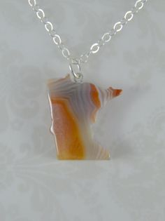 Lake Superior Agate Necklace - One of a kind