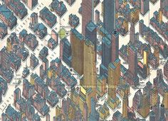 Detail, Rockerfeller Center, Panoramic Map of NYC, by Herman Bollman, 1962