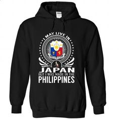 Live in Japan - Made in the Philippines - #casual shirts #crew neck sweatshirt. ORDER HERE => https://www.sunfrog.com/States/Live-in-Japan--Made-in-the-Philippines-atounuseig-Black-Hoodie.html?id=60505