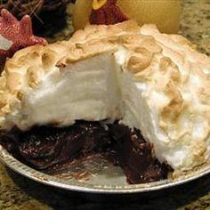 Chocolate Pie and Meringue on BigOven: Best pie you will ever taste!