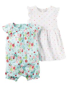 Baby Girl 2-Piece Dress & Romper Set from Carters.com. Shop clothing & accessories from a trusted name in kids, toddlers, and baby clothes.