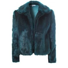 Teal Faux Fur Coat (8.250 CRC) ❤ liked on Polyvore featuring outerwear, coats, blue faux fur coat, faux fur coats, imitation fur coats, blue coat and teal coat