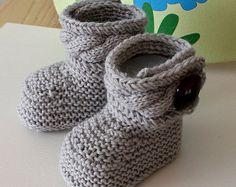 Knitting Pattern fichier pdf bottes pour bébés par loasidellamaglia