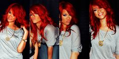 Rihanna #red #hair