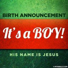 Christmas ~ Birth Anouncement