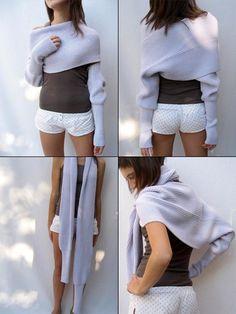 Fantastyczny pomysł / Fantastic!  Sciarpone - szal i sweter w jednym