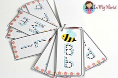 FREE Spring Preschool Centers Alphabet Tracing Cards
