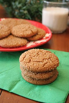 vegAnn's Kitchen: Vegan Gingersnap Cookies #vegan #posno #dessert #cookie