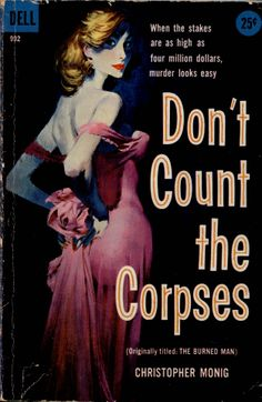 DON'T COUNT THE CORPSES | Pulp vintage cover art