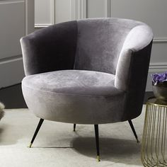 Found it at Wayfair - Arlette Velvet Retro Mid Century Armchair Mid Century Armchair, Velvet Armchair, Beige Accent Chairs, Restoration Hardware Dining Chairs, Chair Bed, Barrel Chair, Take A Seat, Occasional Chairs, Club Chairs