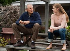 """Trouble With The Curve"" movie still, 2012 L to R: Clint Eastwood, Amy Adams Amy Adams, Clint Eastwood, Trouble With The Curve, Atlanta, Human Oddities, Challenge S, Film Review, Justin Timberlake, Scouts"